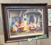 Disney Parks Ducky Williams Le Giclee Canvas Print Snow White At Cottage