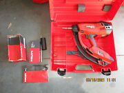 Hilti Tools Gx3 Gas Operated Actuated Nail Gun Fastening Tool W/ Case 963