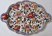 Gien French Pivoines Peonies Platter Plate 21 X 15 Near Mint Vintage Condition