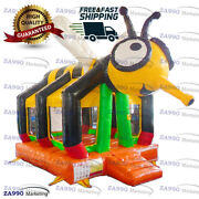 15x10ft Commercial Inflatable Bumble Bee Bounce House With Air Blower