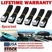 6pk 1 X 8.2ft Lashing Straps Up To 600lbs Cargo Cam Lock Buckle Tie Down Straps