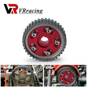 Adjustable Cam Gear Timing Gear For Honda Sohc D15/d16 Cam Pulley Pullys Red