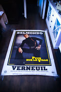 Fear Over The City Belmondo 4x6 Ft Rolled Vintage Movie Poster Original 1975