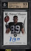 2015 National Treasures Black Amari Cooper Rookie Rc Auto 2/2 26 Bgs 9.5 Gem