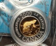 2000 Canada 2 2-coin Set 1 Gold Center .185 Agw - 1 Gold Plated