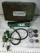 Greenlee 7506 Hydraulic Conduit Knockout Punch 767 Pump/3 Bits Incomplete