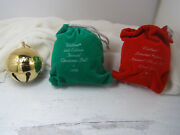 Wallace Silver Plated Sleigh Bell Christmas Ornaments 1993 1996 2002