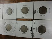 Lot Of Liberty V Nickle's 1907,21906,1905,1900,1897,1898, 1899