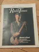 Tv Times David Bowie Cover Issue Great Cover March 1982