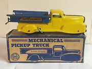 Marx Mechanical Pickup Truck Rapid Express Yellow/blue With Org. Box