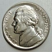1988 D Jefferson Nickel - Bu Coin Pulled From An Obw Roll