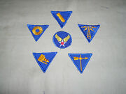Ww2 Usaaf Specialist Cuff Dm Complete Set On Twill With 2 Aaf Cap Patch