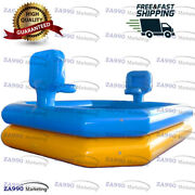 20x16ft Commercial Inflatable Water Pool And Basketball With Air Pump
