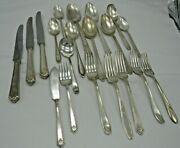 Vintage Silverplate Pretty Mixed Lot Of 20 Holmes And Edwards, Rogers Silverware