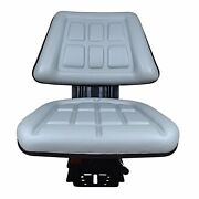 Grey Tri Suspension Seat Fits Ford/new Holland 3300 3910 3930 6000 7610 Tractor
