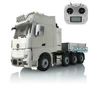 Lesu Metal Chassis Truck Hopper Light Sound Radio Rc 1/14 Hercules Actros Cabin