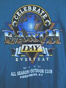 Vtg Earth Day Everyday 1991 Tshirt Parkersburg Wv Single Stitch Size Xl 90s Teal