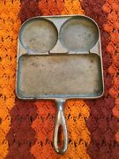 Vintage Cast Iron Skillet Pan Bacon And Eggs Littlestown New York Hdwe Fdry No.1