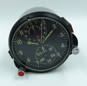 Achs-1 Russian Soviet Ussr Military Airforce Aircraft Cockpit Clock 08007