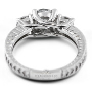 1.30ct E-si1 Round Natural Certified Diamonds 18kw Gold Classic Engagement Ring