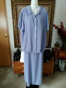 Coldwater Creek Women's 2pc Blouse And Skirt Violet Plus Size 2x