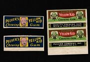 Opc Rare 1890's Pulver's Yellow Kid Chewing Gum Wrappers 43174