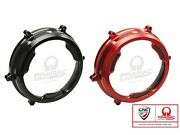 Ca201pr - Cnc Racing Ducati Panigale V2 Clear Clutch Cover With Carbon Inlay P