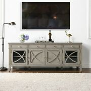 Jennifer Taylor Home Dauphin 71 Tv Stand Display Console Table Grey Cashmere