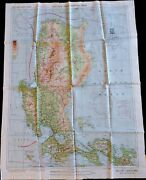 Ww2 Luzon Island C-40 And Southeast China No 34. Aaf Silk Evasion Map Philippines