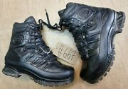 Meindl German Army Sf Issue Black Leather Goretex Combat Boots Size 8.5 Uk 667