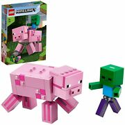 Lego Minecraft Minecraft Big Fig Pig And Baby Zombie 21157 Block Toys Japan New