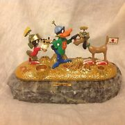 Rare Warner Bros. Ron Lee 1993 Duck Dodgers And Marvin The Martian Figurine