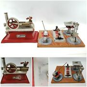 Vintage 1920andlsquos Empire Metal Ware B30 Steam Engine And Wilesco Woodworking Tools
