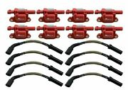 Vented Ignition Coils + Wires For Corvette C5 C6 C7 Z06 Camaro Ss Cts-v 6.2 7.0