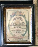 Antique Lordand039s Prayer Framed Illustrated Lithograph Print 8 X 10 Framed