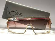 New Vintage Cazal Mod 858 252 Translucent 1980's Made In West Germany Sunglasses