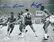 Bill Russell And Oscar Robertson Autographed 8x10 Signed Photo Jsa And Altman Coa
