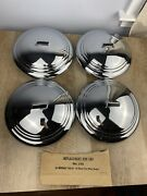 Set Of 4 Vintage Nos 1935-1936 Chevrolet Chrome Replacement Trim Ring Hub Caps