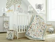 Levtex Baby Jungalo Natural Animal 8-pc Crib Bedding Set Include Bumper/mobile++