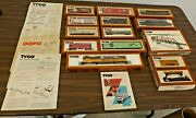 Lot Of 13 Vintage Tyco Ho Scale Assorted Train Cars, Engine, Track, Power Supply