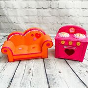 Lalaloopsy Orange Pink Trim Couch Fits 2 Dolls 12 2010 Sofa 2011 Large Oven