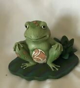 Jim Shore Heartwood Creek - Bounce With Me Frog On Lily Pad Figurine