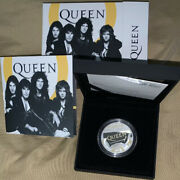 Great Britain Uk 2020 Queen Music Legends 1 Oz One Ounce Silver Proof Box Coa