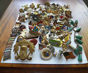 Large Lot Approx. 150 Mix Of New And Vintage Pin Backs Clutch Back Pins
