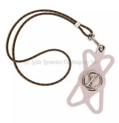 Brand New Sold Out Authentic Louis Vuitton Louise Phone Holder Necklace In Pink