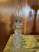 Vary Rare Boston And Sandwich Glass Whale Oil Lamp