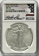 2016 Ase 1 Early Releases Ngc Ms70 Miles Standish Hand Signed 1oz Silver Coin