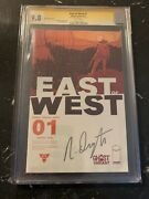 East Of West 1 Cgc 9.8 Ghost Variant Signed Rare Book