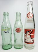 3 Coca Cola Bottle - 2 Sizes 1982 World Series Cardinals Brewers And 1 Army Navy