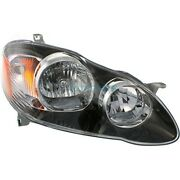 New Right Halogen Head Lamp Assembly Fits 2005-2008 Toyota Corolla To2503154